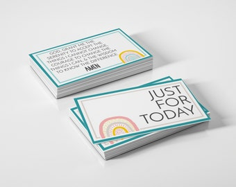 Printable Recovery Pocket Cards - AlAnon, CoDA, and other 12-Step Program Slogans, Sayings, Acronyms, & Quotes Reminder Card Set (DOWNLOAD)
