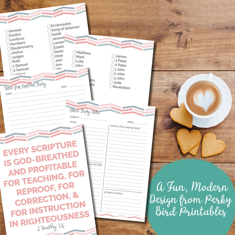 graphic regarding Printable Revelation Bible Study referred to as Bible Examine Printables Fixed with Lovely Red Gray Chevron Practice (Immediate Down load)