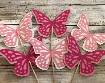 Butterfly Cupcake Toppers, Party Decor,Wedding,Bridal,Birthdays
