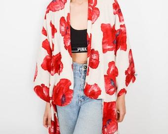 Kimono Cookies /& Poppy Red Gr L