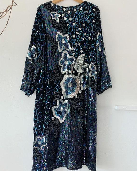 Vintage sequin floral dress