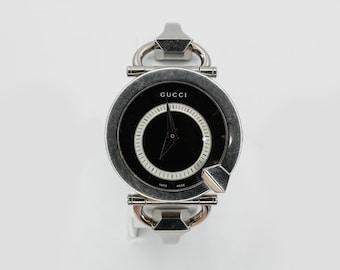 45cfb26300e Gucci Lady s Chiodo Horsebit Stainless Steel Bracelet Watch