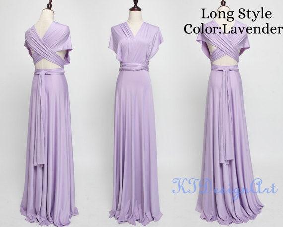 Lavender Bridesmaid Dress, Convertible Infinity dress, Lavender Prom Dresses, Long Maternity Dress, Party Dress
