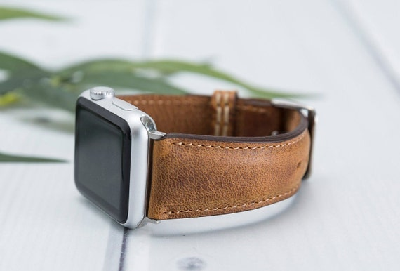 ce75813b1d5 Handmade Vintage Antique Brown Leather Apple Watch Band 42mm