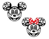 Mickey Sugar Skull svg diy Family Sugar Skull t-shirt Sugar Skull Iron On Files for Cutting Machines svg pdf dxf Disney Sugar Skull svg