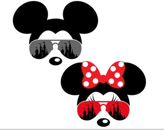 c51ed0440a7a diy Family Vacation tshirt Family Vacation Mickey with aviator Sunglasses  svg files for Cutting Machines svg pdf dxf Disney Vacation t-shirt