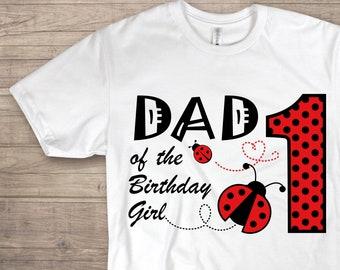 a27e5894a DIY Dad Ladybug Birthday Shirt Print at Home Lady Bug Iron On Transfer Dad  Ladybug Clipart Ladybug Birthday Shirt Lady Bug 1st Birthday