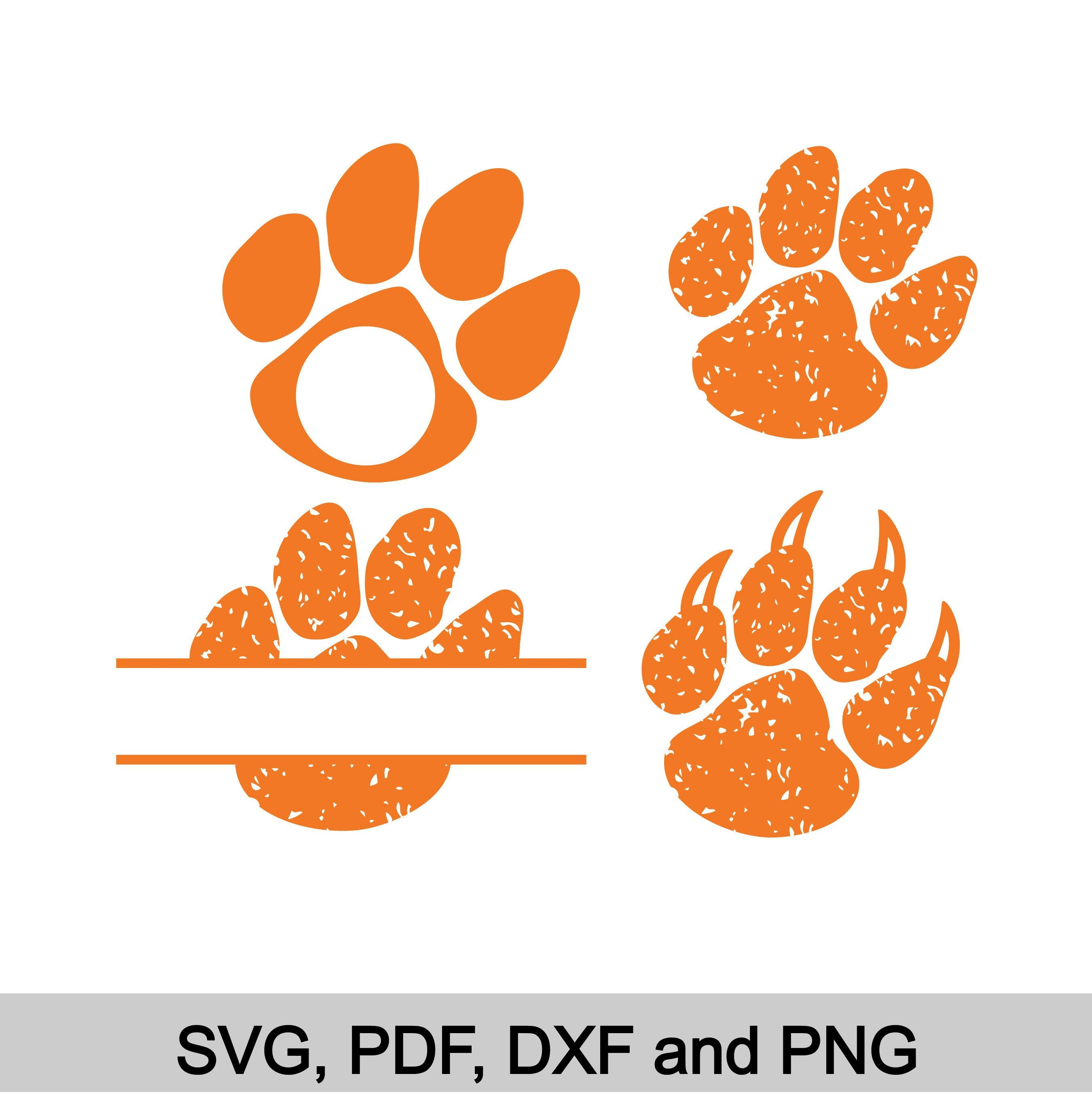 Tigers Svg Tiger Monogram Svg Football Svg Tiger Paw Etsy