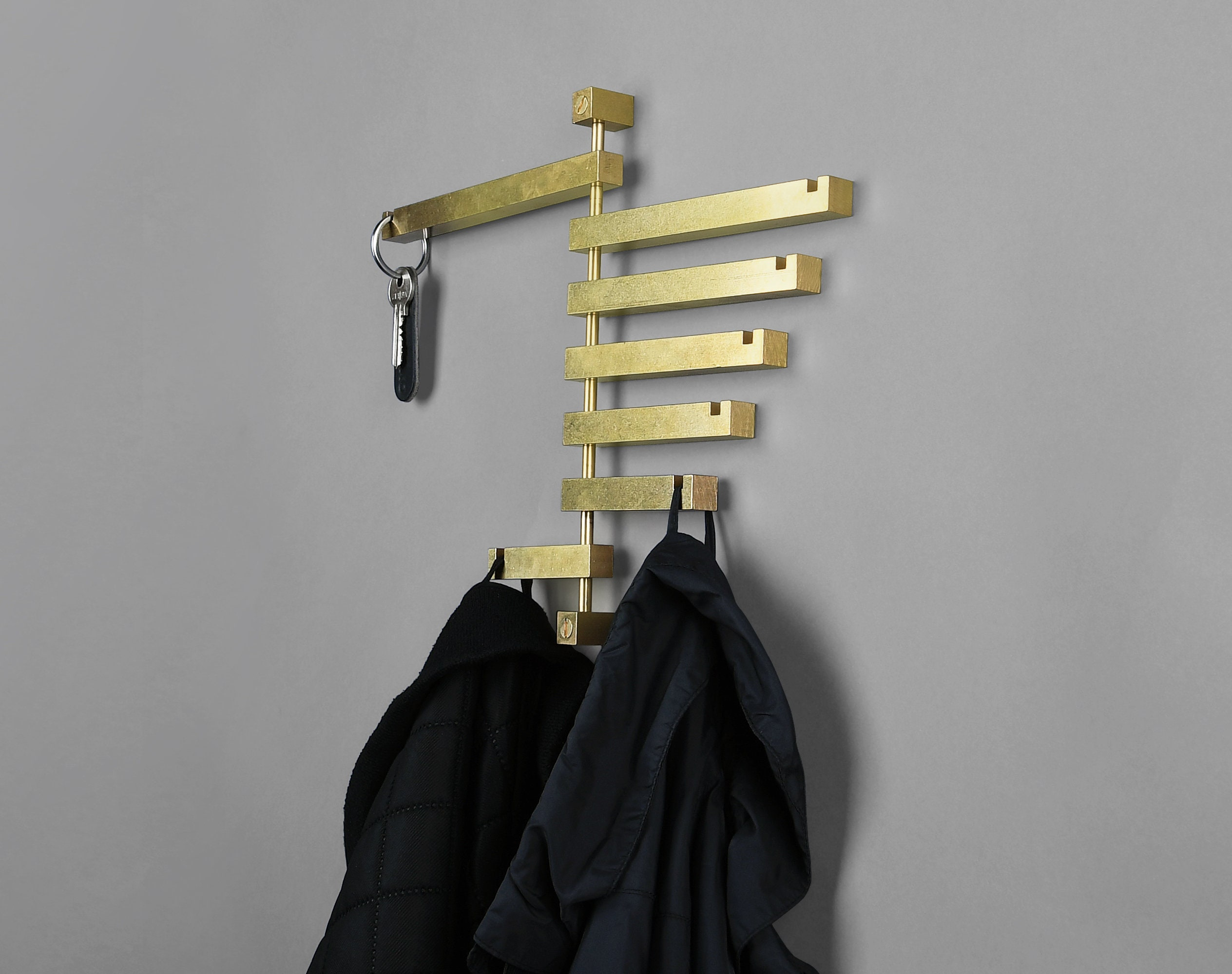 Seven Coat Rack Hanger Wall Mount, How To Hang Coat Hanger On Wall