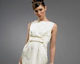 3604e4cd28fd Audrey Hepburn inspired Damask dress