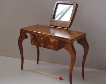 contemporary varnished vanity. 1/12 th