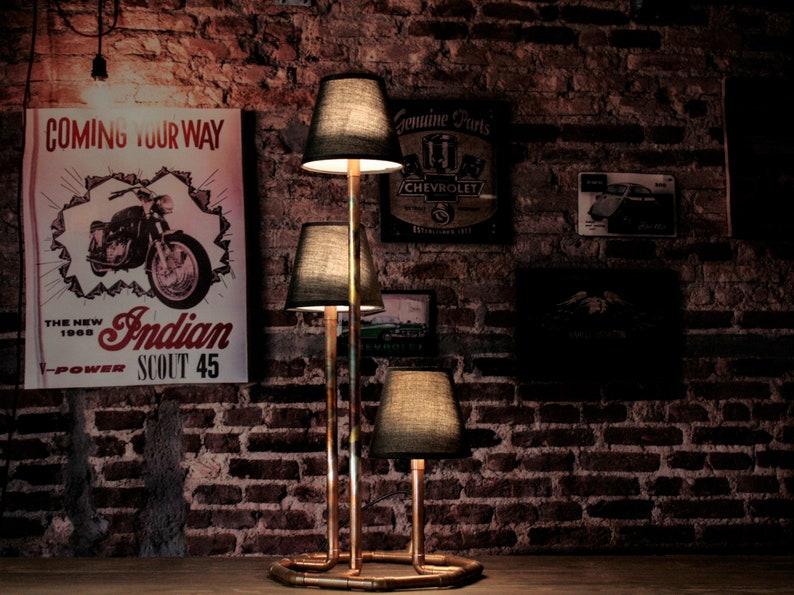 Copper pipe lamp Tribus/Industrial lamp/Pipe image 0