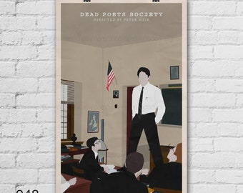 Dead Poets Society Poster. Robin Williams. Peter Weir. Pop Culture and Modern Wall Decor. 16x20 18x24 A1 Size.  Select a size. Item no. 048