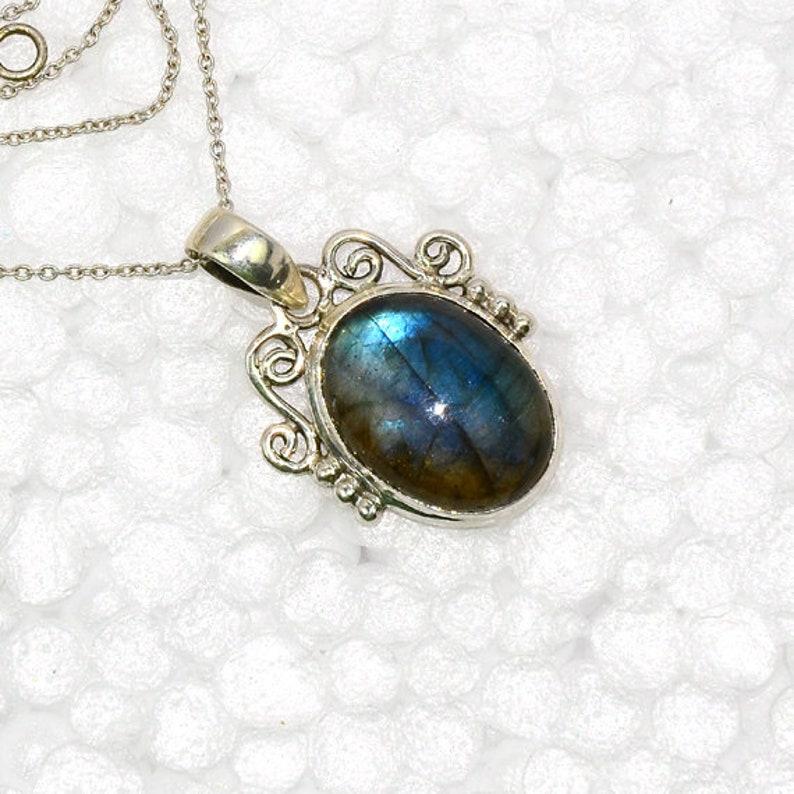 Gemstone Pendant, Wonderful Exotic Natural 925 Sterling Silver FLASHY LABRADORITE Pendant Designer Pendant Gift Pendant Unique Gemstone