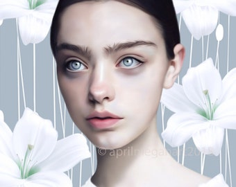 Printable Download - Lily Fine Art Portrait
