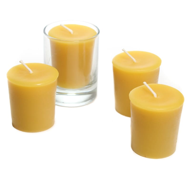 100/% Pure Beeswax Votives