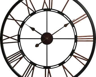 House of Durante The London Skeleton Wall Clock 70cm Vintage Copper In/Outdoor