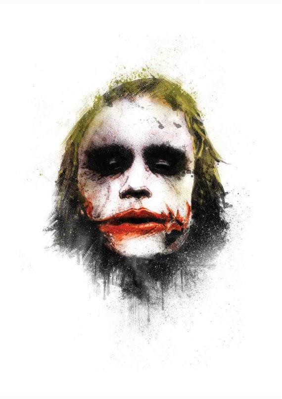 Joker Face: Painting | Etsy