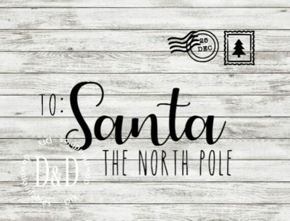 Personalized Santa Envelope Svg Sign Stencil Design Printable Family Name Christmas Letter Pdf