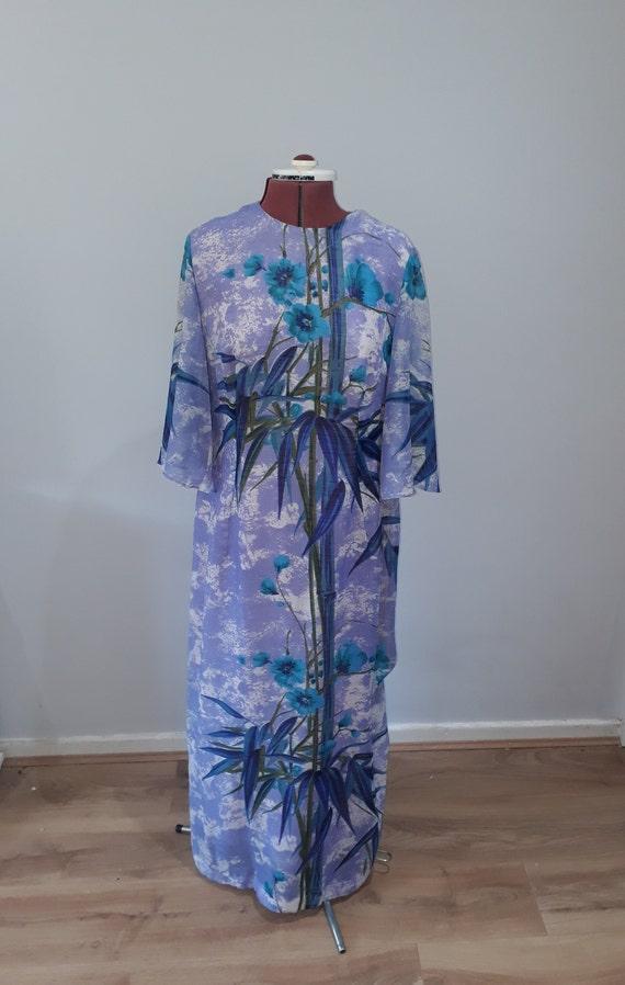 1960's Vintage dress maxi dress oriental dress or… - image 2