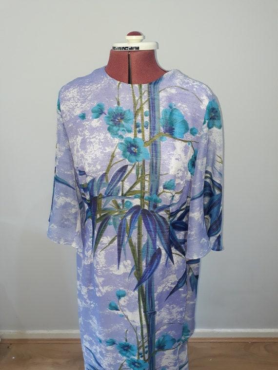 1960's Vintage dress maxi dress oriental dress or… - image 4
