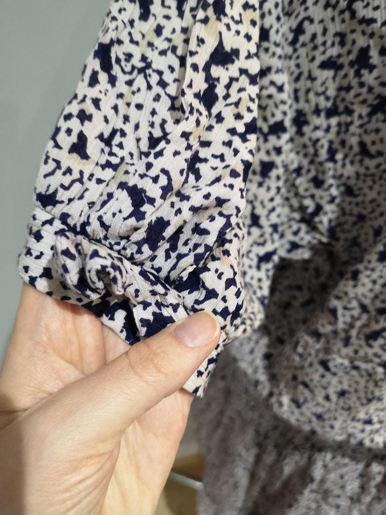 Vintage 1980/'s dress 80/'s day dress short sleeved dress floral dress midi dress ditsy floral dress MISTY grunge UK 14-16