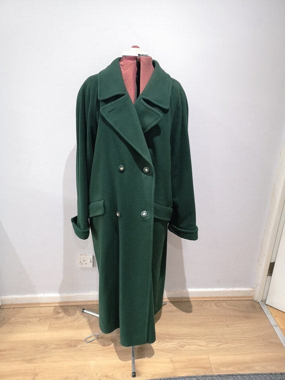 Vintage green LAMPERT wool and cashmere coat, 1980