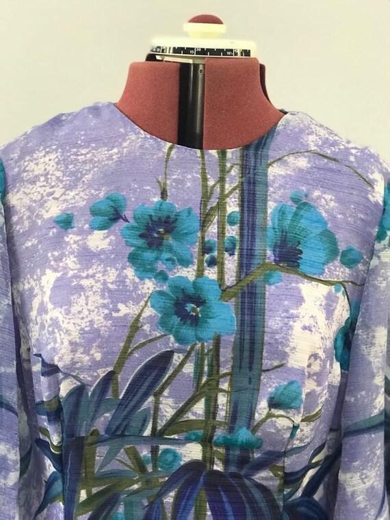 1960's Vintage dress maxi dress oriental dress or… - image 8