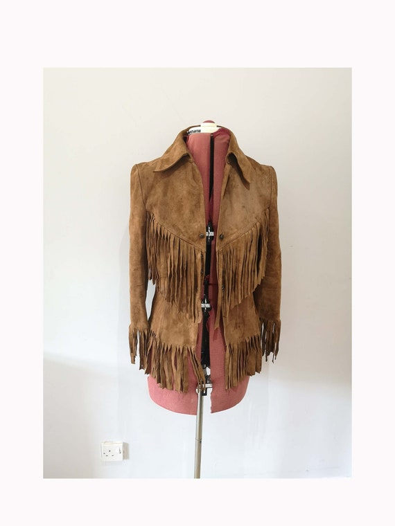 60's or 70's brown suede fringed jacket, Creation