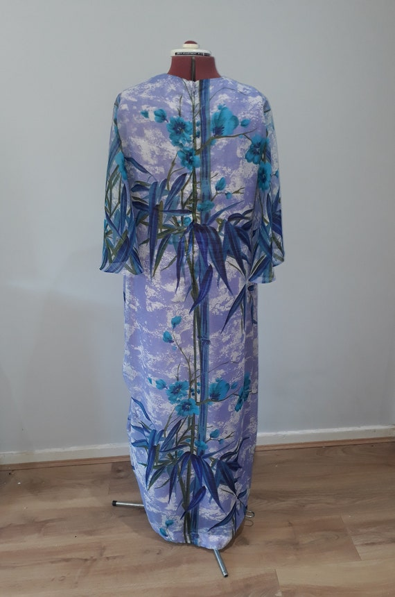 1960's Vintage dress maxi dress oriental dress or… - image 5