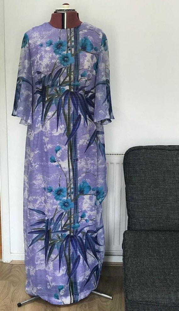 1960's Vintage dress maxi dress oriental dress ori