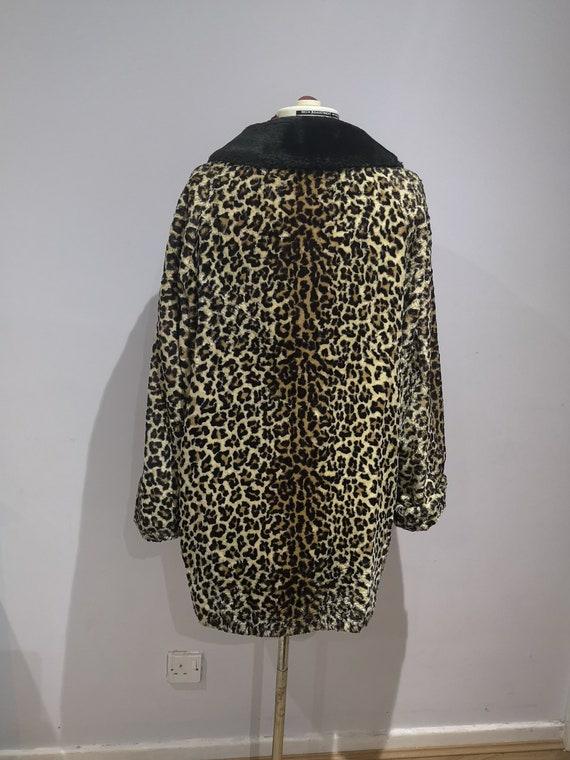 1960's leopard print coat, 60's faux fur coat, vi… - image 8