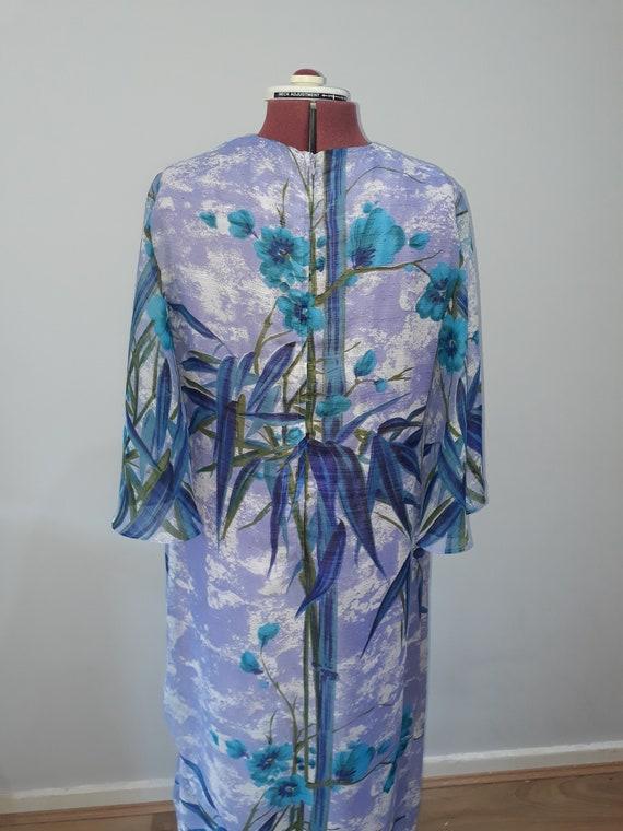 1960's Vintage dress maxi dress oriental dress or… - image 6
