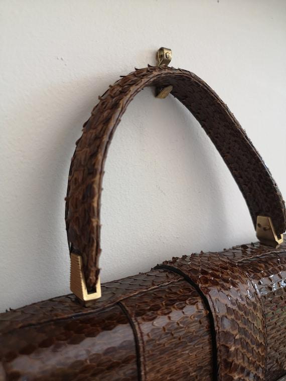 1940's Vintage genuine snakeskin handbag, vintage… - image 7