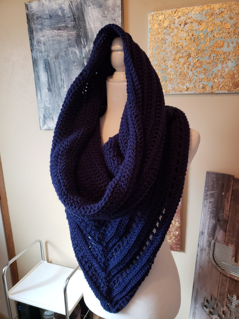 winter hood hood knit gift for her hand knitted scarf cowl scarf womens gift hooded scarf handmade mothers day gift shawl navy