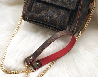 Louis Vuitton Upcycled crossbody bag Strap Handle Handmade from authentic  canvas. Perfect addition for LV Pochette 263e0d6952bee