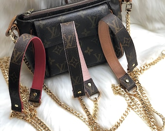 740f55774835 Louis Vuitton Upcycled crossbody bag Strap Handle Handmade from authentic  canvas. Perfect addition for LV Pochette