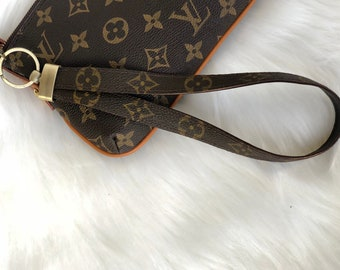 6d2676b05df7 Louis Vuitton Upcycled Wrist Strap for Clutch. Wristlet Wrist Bag Purse  Pouch Wallet strap replacement Handmade from Authentic LV Canvas