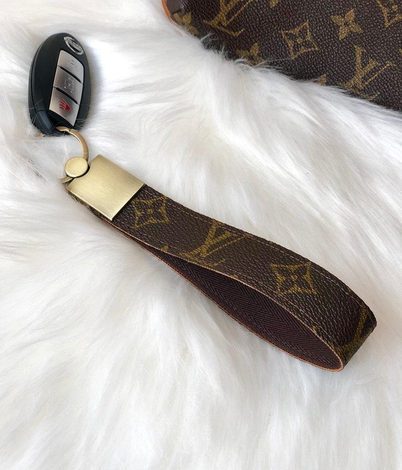 824fd79a643 Louis Vuitton Upcycled Wrist Lanyard Wristlet Key Fob Keychain