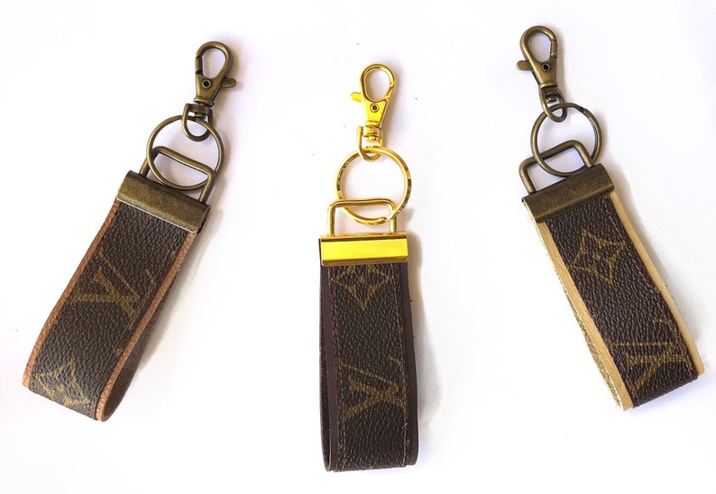 62aaebbc135 Louis Vuitton Upcycle Repurposed KeyChain Charm Handmade from