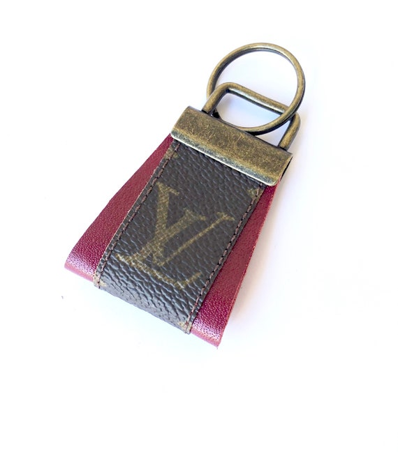 85fb4b2a002 LV Reworked Repurposed Keychain Keyring Handmade Using