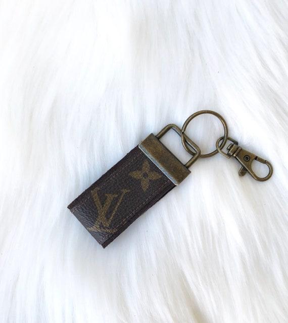 497644b07dbac Louis Vuitton Upcycled Repurposed Keychain Bag Charm Handmade   Etsy