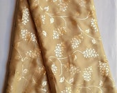 Traditional Golden Art Silk Designer Saree Floral Print Sari With Golden Plain Unstitched Blouse For Women Wear,Festive Wear,Party Wear