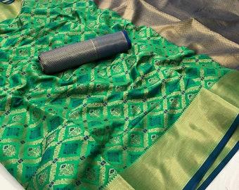 Beau vert pommier Art soie Saree avec chemisier décousus Running pour les  femmes porter, le parti porter, usure Festive, vêtements de mariage, Sari  créateur ... 2653a8036a4