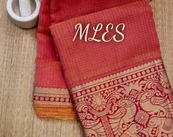 afad6cfbf9f41 Designer Maroon Soft Banarsi Kota Silk Saree Pure Zari Weaving Border Grand  Pallu With Contrast Running Blouse For Women Festive Wear Sari