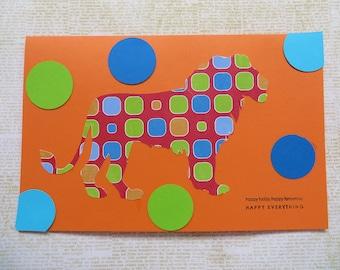 Three Africa Inspired Handmade Greeting Cards Set 7