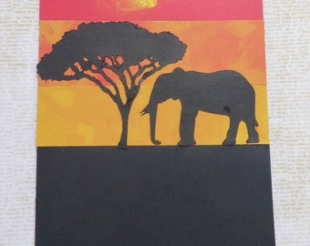Three African Inspired Handmade Greeting Cards Set 6