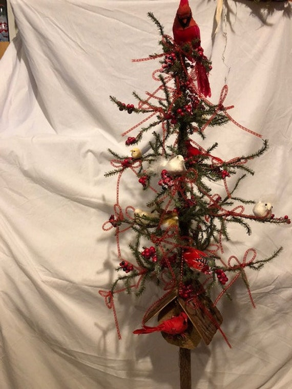 Christmas Tree Bird Tree Bird House Tree Birds Decorating Etsy