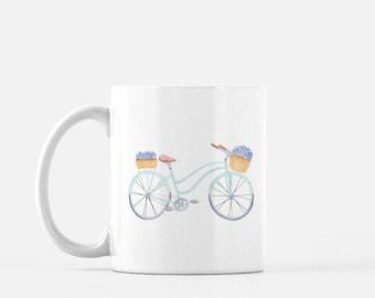 Hydrangea Bike Mug