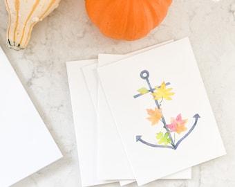 Autumn Anchor Notecard Set
